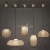 Exclusive Paper Mini Pendant Light In White By Designer ...