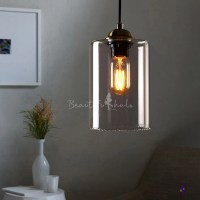 1-Light LED Mini-Pendant Light with Cylindrical Shade in ...