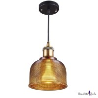 Buy Amber-colored Glass Pendant Light Short Size at ...