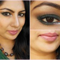 What Am I Wearing Today: Dark Green Smokey Eye Makeup