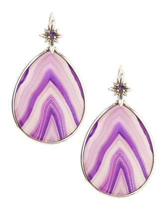 image of purple agate stone earrings