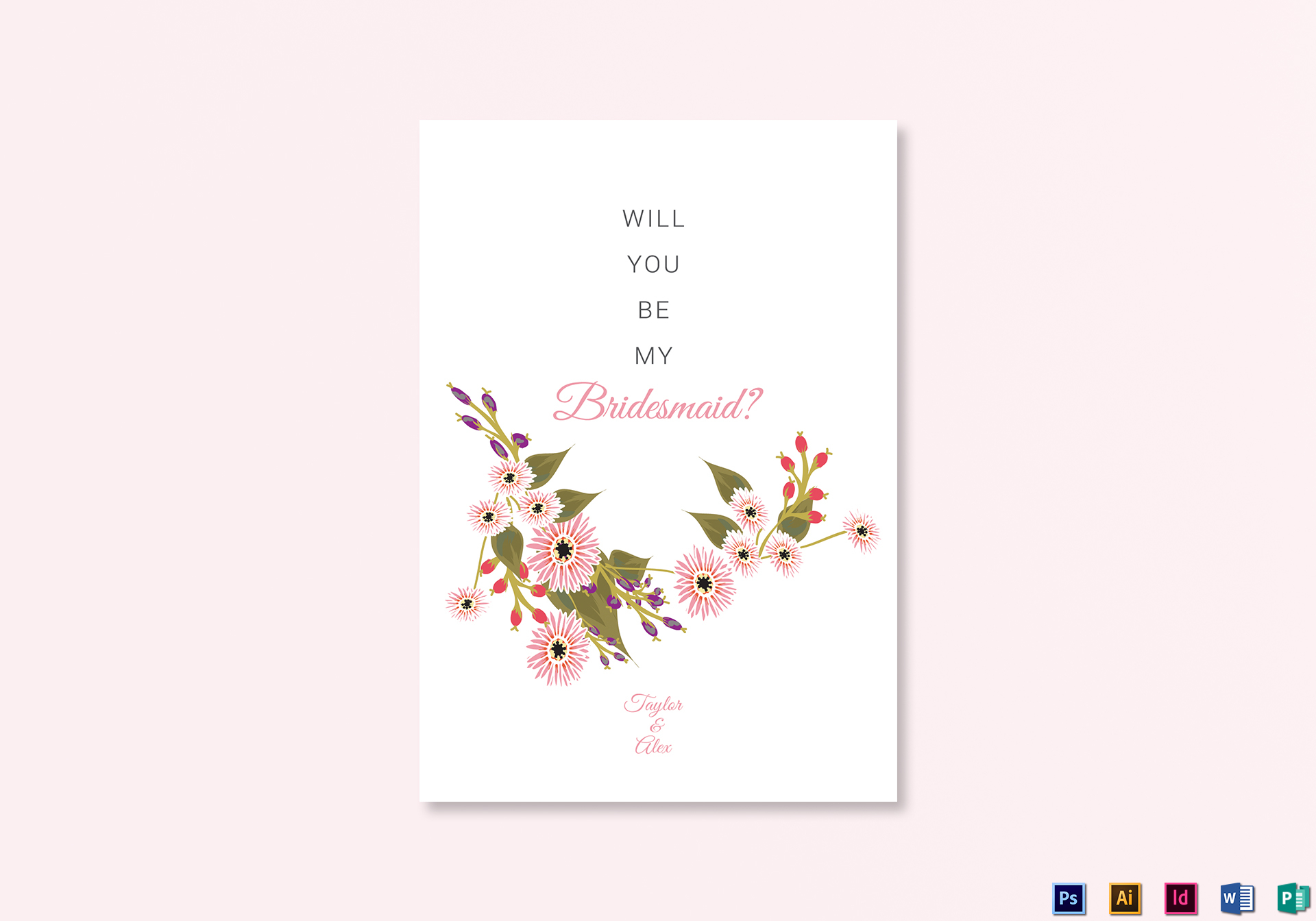 Will You Be My Bridesmaid Template Choice Image Free