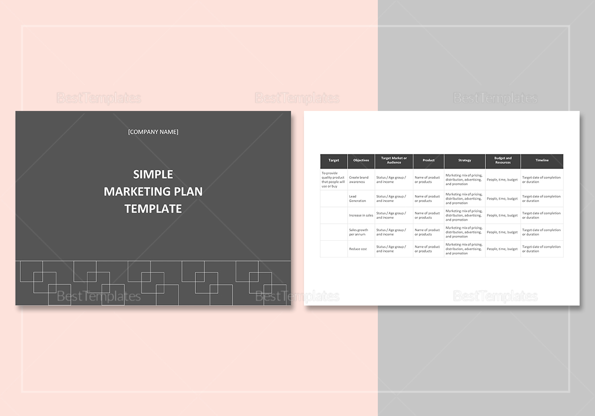 marketing plan outline template