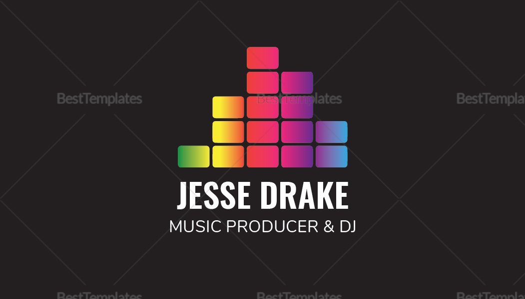 Music Producer and DJ Business Card Template in PSD, Word, Publisher