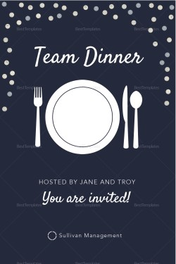 Small Of Dinner Invitation Template