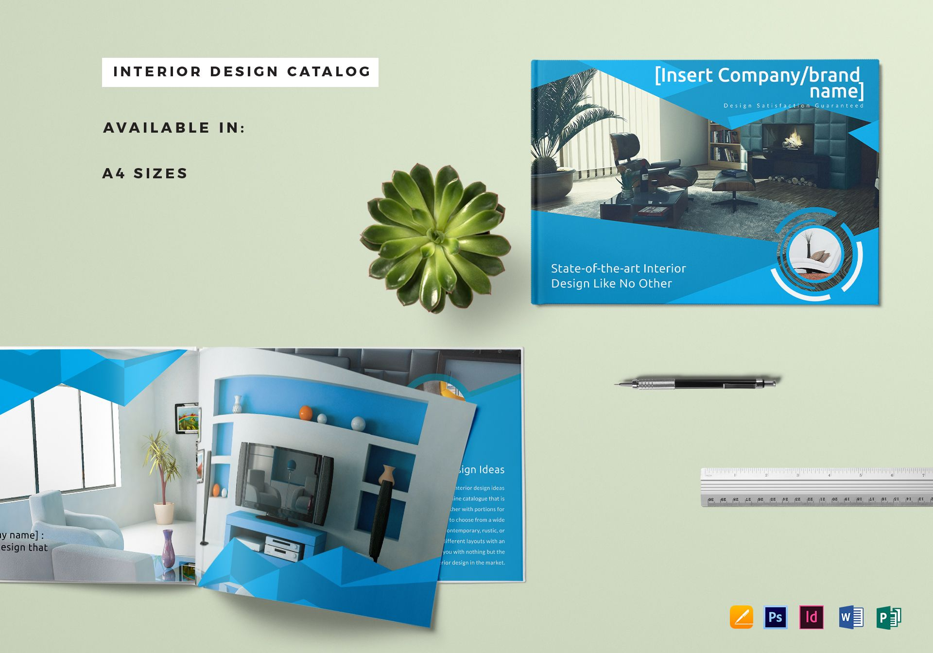 Home Interior Design Catalog Home Decor Catalog Template In Psd Word Publisher