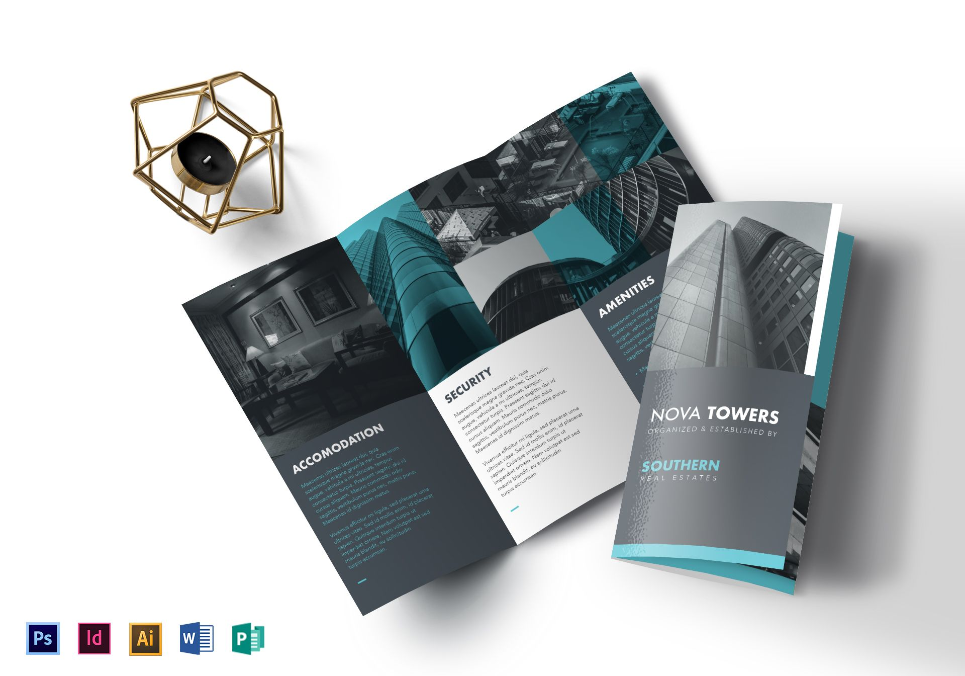 Real Estate Tri Fold Brochure Design Template In Psd Word