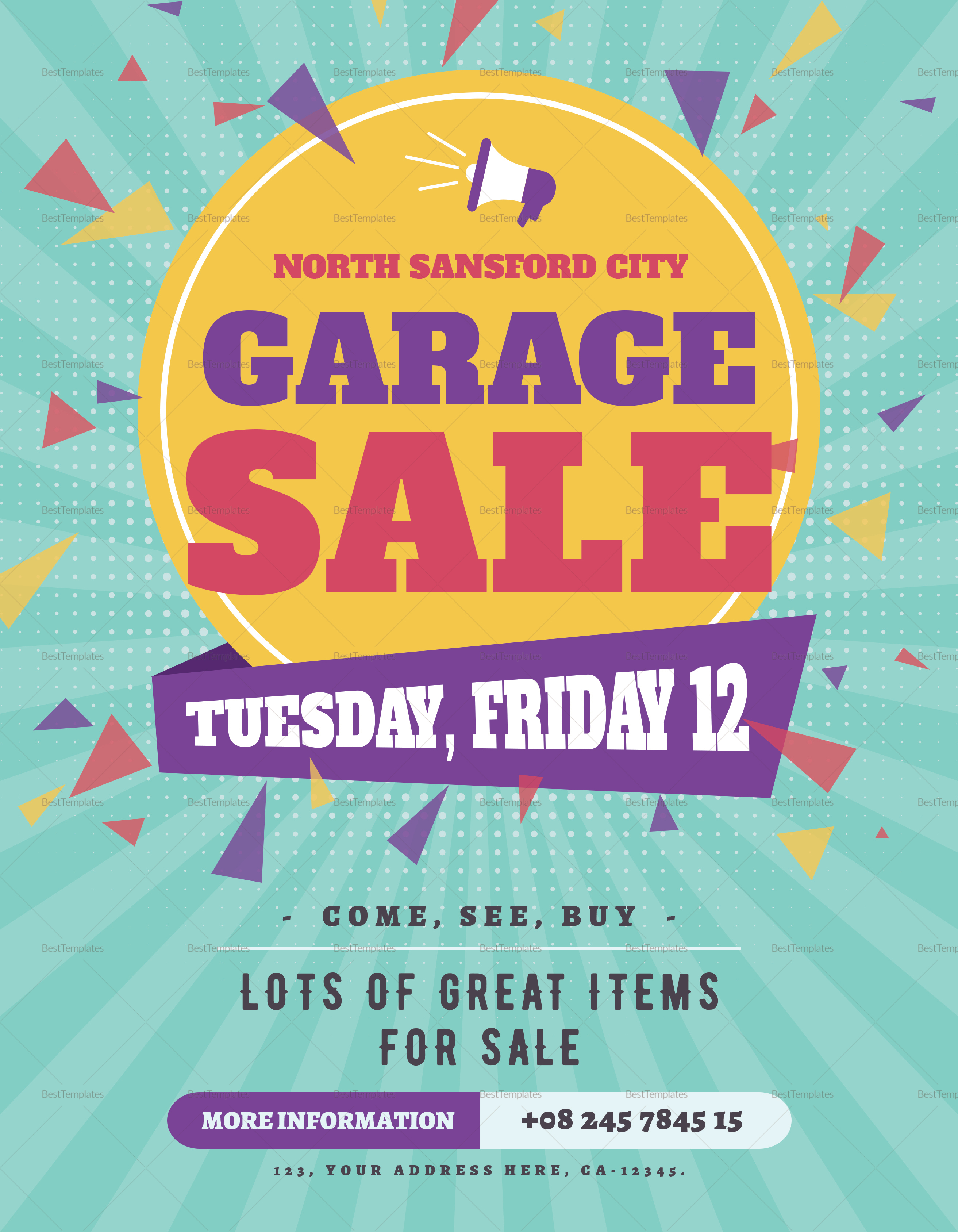 Garage Design Template Large Garage Sale Flyer Template