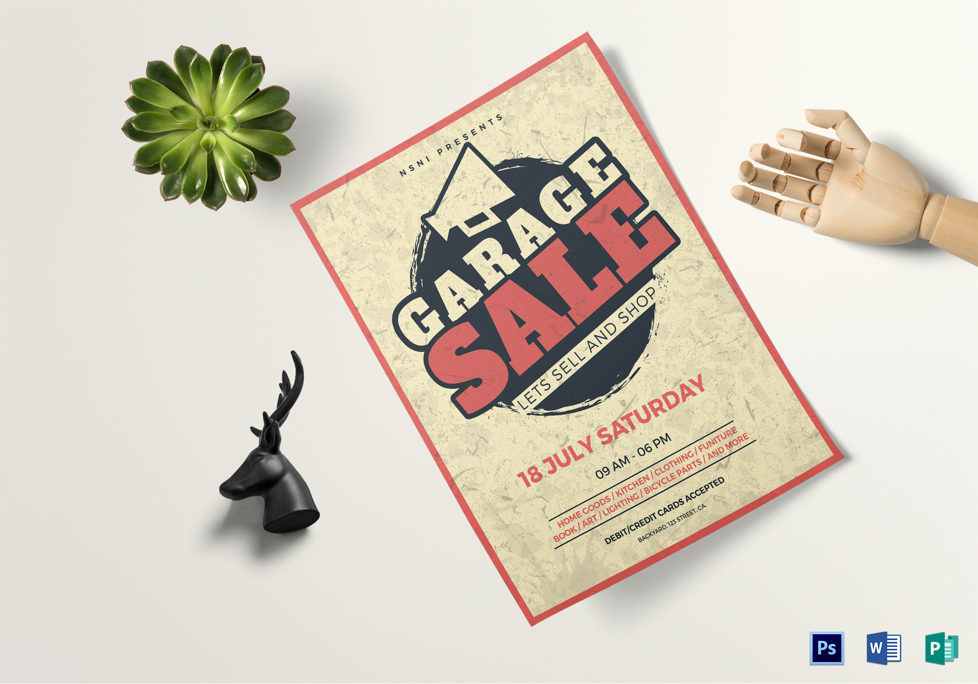 Garage Design Template Vintage Garage Sale Flyer Template