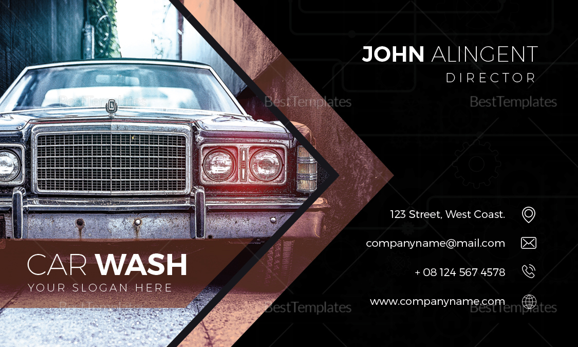 Car Wash Business Card Design Template in Word, PSD, Publisher