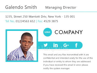 Managing Director Email Signature Design Template in PSD, HTML