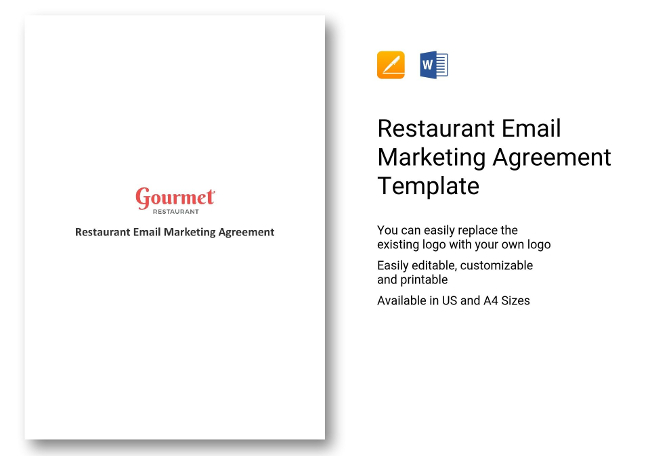 37+ Restaurant Marketing Templates  Plans, Spreadsheets - marketing agreement template