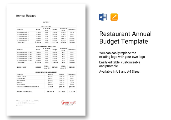 36+ Restaurant Accounting Templates  Bookkeeping, Statements