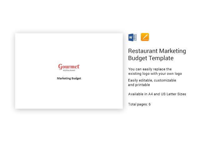 37+ Restaurant Marketing Templates  Plans, Spreadsheets