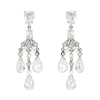Betteridge Briolette-Cut Diamond Chandelier Earrings ...