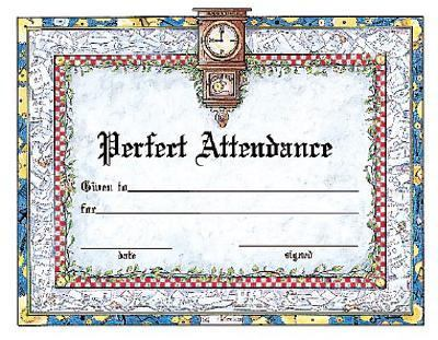 Perfect Attendance Award Certificate by Instructional Fair, School - Free Printable Perfect Attendance Certificate
