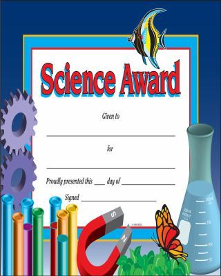 Science Award Certificate by Instructional Fair, School Specialty