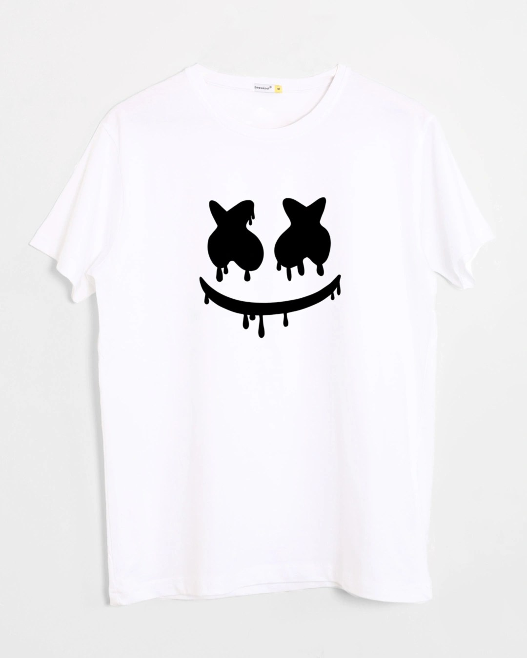 T Short Marshmello Mask Half Sleeve T Shirt