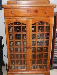 Cabinets - Solid authentic Oregon pine wood 48 bottle Wine ...
