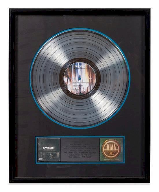 An Eminem The Marshall Mathers LP RIAA Certified 5x Platinum