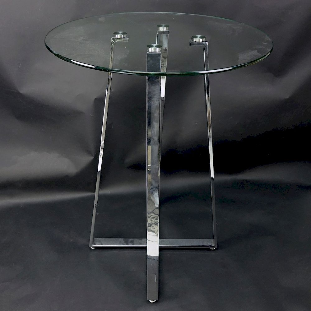 Glasvitrine Chrom Chintaly Chambers Glass Chrome High Bar Table By Kodner