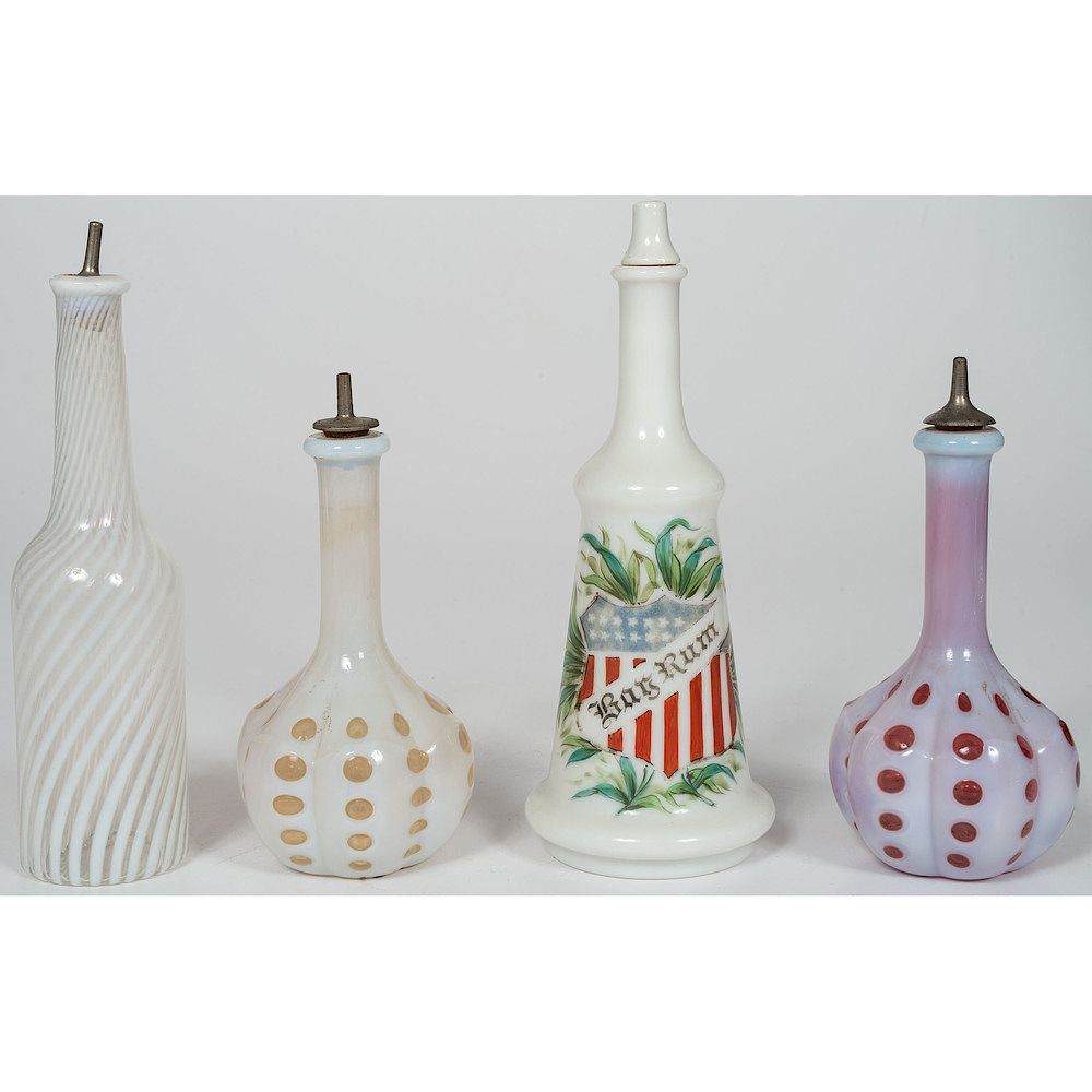 Milk Bottles For Decoration Milk Glass Barber Bottles By Cowan 39s Auctions 1397103