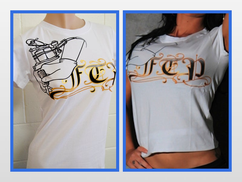 T Onlinr Ftp Tattoo Ladies Tee / Ftp Clothing