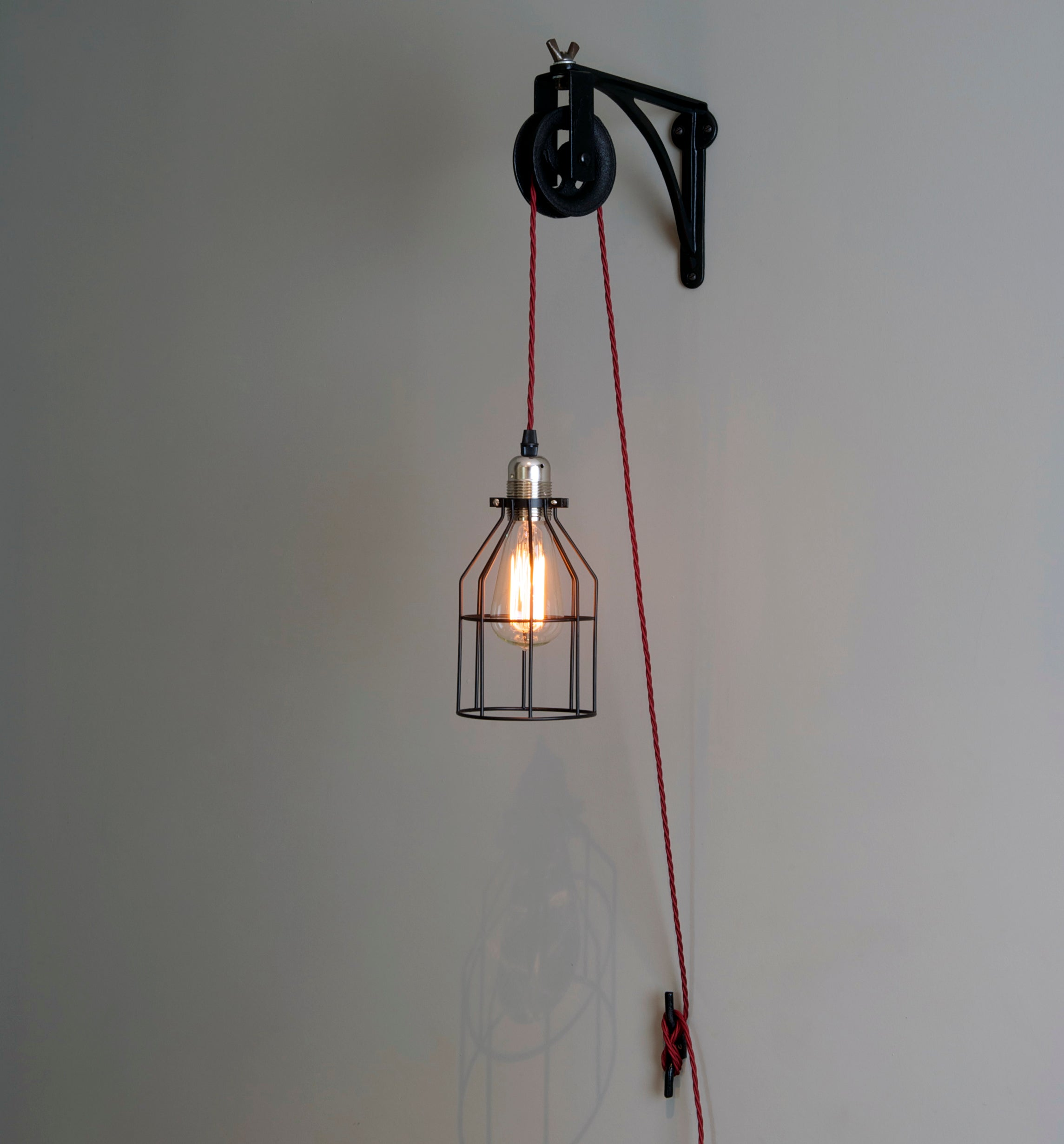 Wall Mounted Industrial Lights Vintage Wall Mounted Industrial Pulley Light Hütte