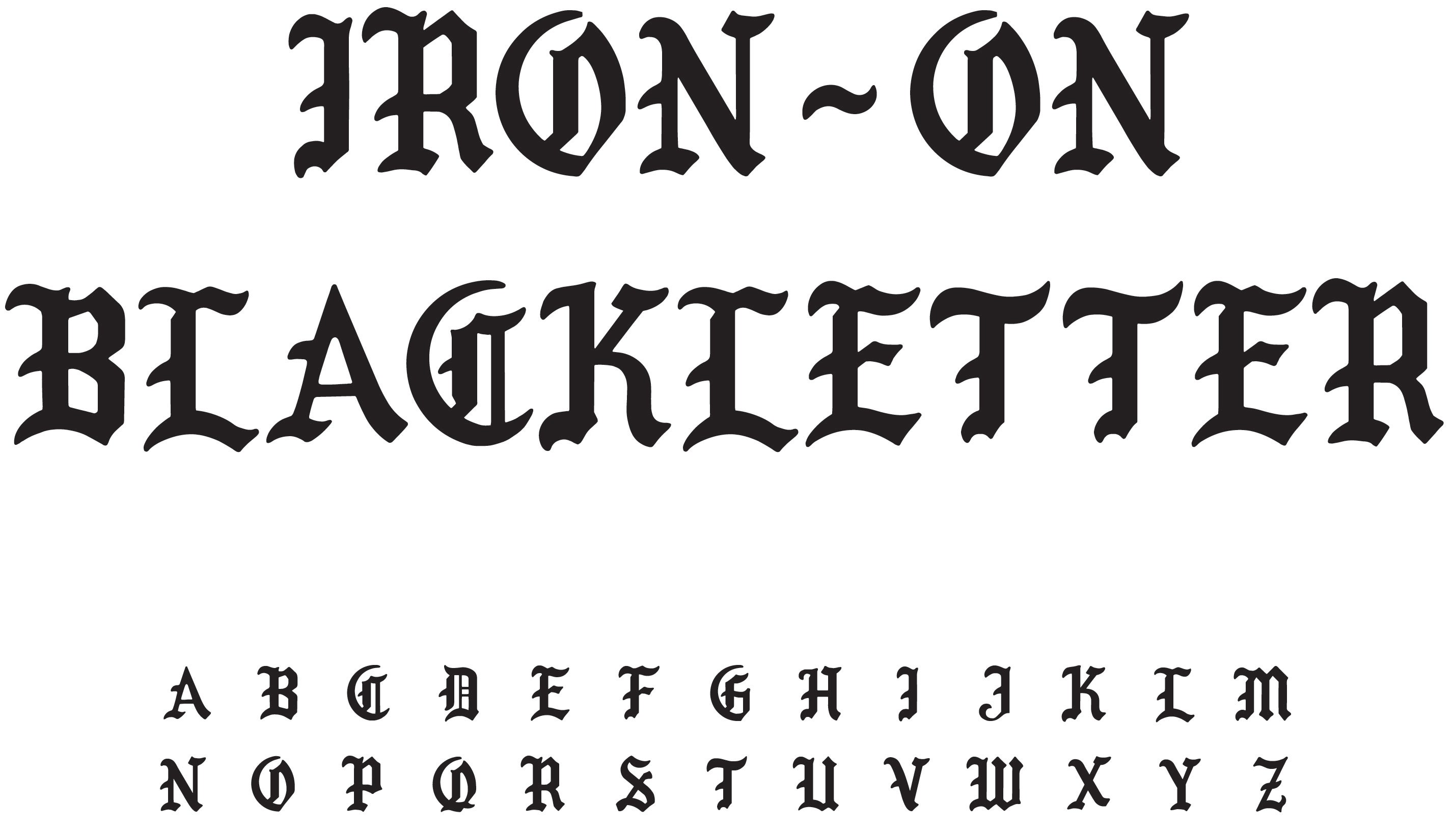 Black And White Home Wallpaper Yr Face Iron On Blackletter