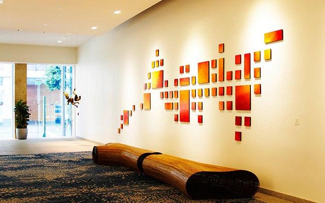 3d Max Wallpaper Commercial Wall Sculpture Art Installation Painting