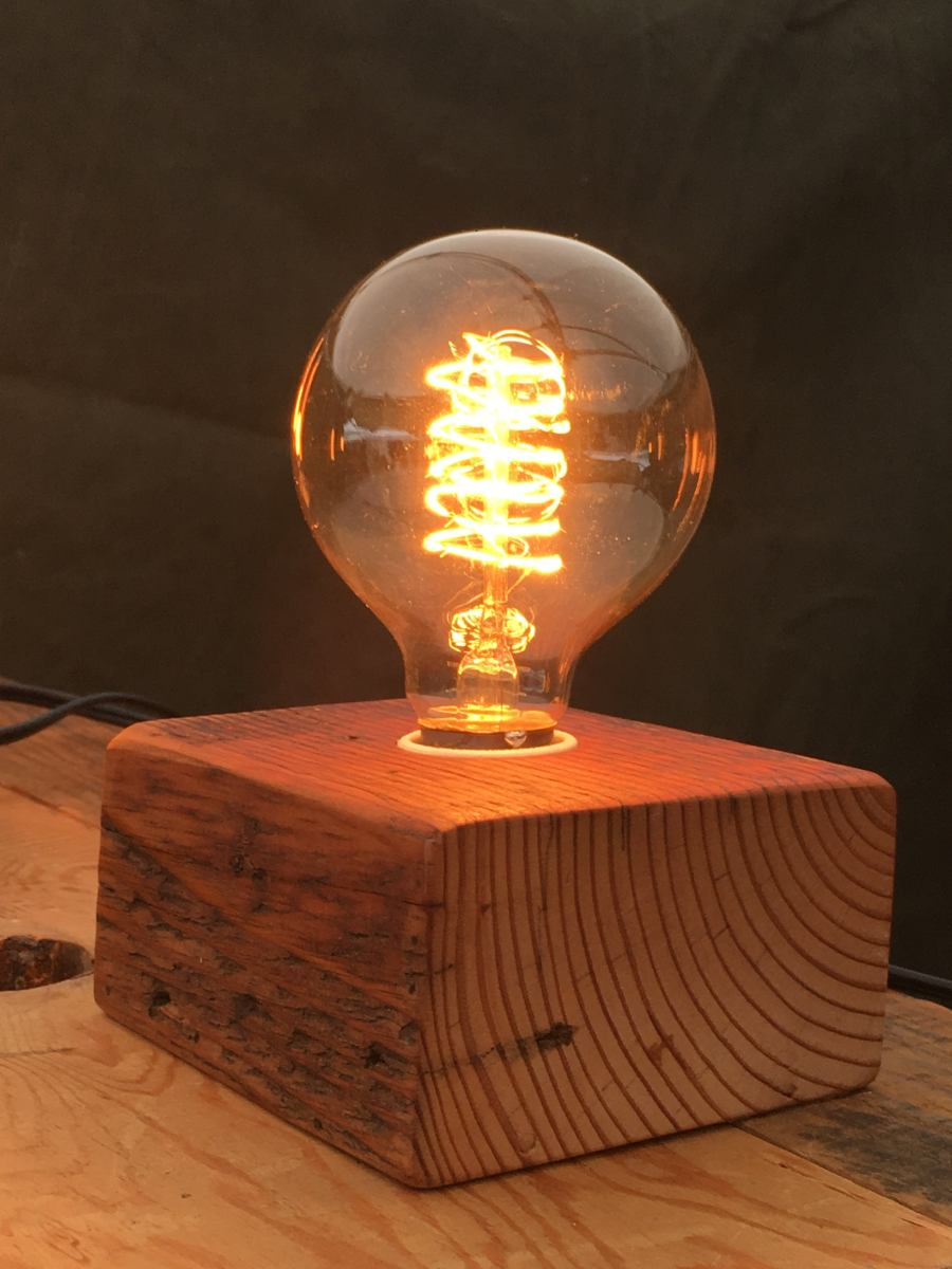 Lamp Bulb Bengston Woodworks — Wood Block Lamps