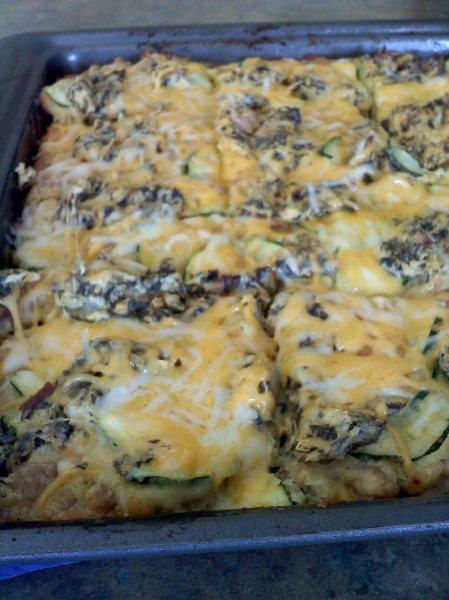 Zucchini Cheese Squares
