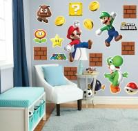 Super Mario Bros. Mario, Luigi and Yoshi Giant Wall Decals ...