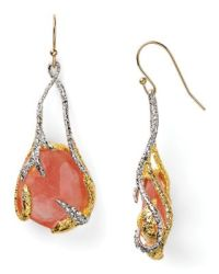 Alexis Bittar Floral Suspended Cherry Earrings ...