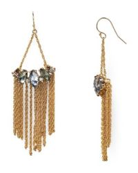 Alexis Bittar Elements Fringe Marquise Wire Drop Earrings ...