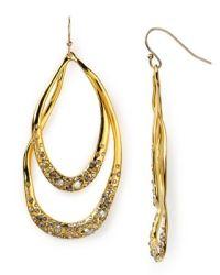 Alexis Bittar Crystal Encrusted Gold Orbiting Tear ...