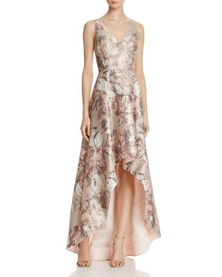 formal dresses evening gowns id bloomingdales wedding dresses Aidan Mattox Sleeveless Jacquard High Low Gown Bloomingdale s 2