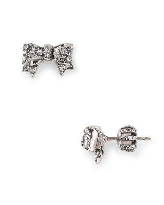 Juicy Couture Pavé Bow Stud Earrings   Bloomingdale's