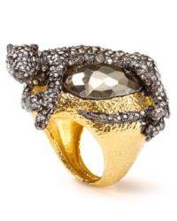 Alexis Bittar Elements Siyabona Sunset Pyrite Panther Ring ...