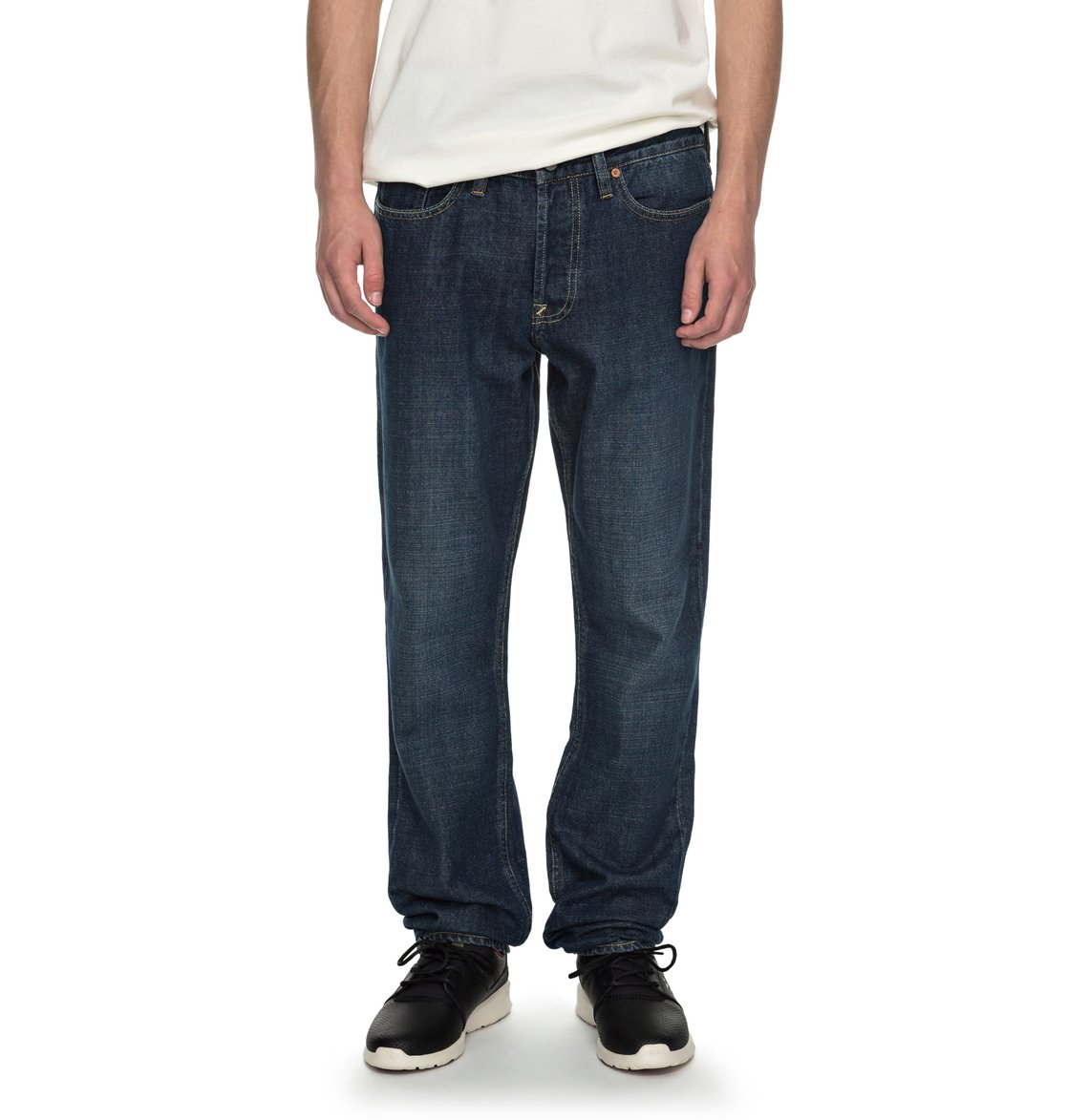 Jeans Coupe Droite Worker Stone Wash Jean Coupe Droite Pour Homme