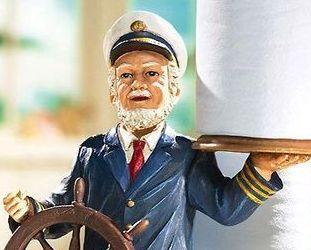 Sea Captain Nautical Toilet Paper Holder Heavy Bathroom