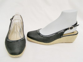 7 1 2 M Black Wedge Anne 2 1 4 Klein Womens Heels Sandals