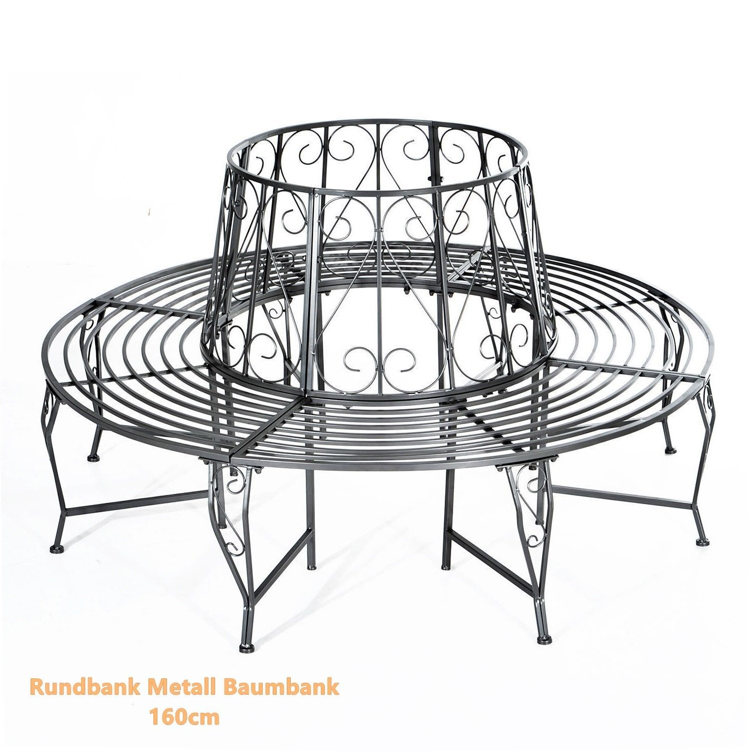 Rundbank Metall Rundbank Metall Baumbank Sitzbank Gartenbank And 50 Similar Items