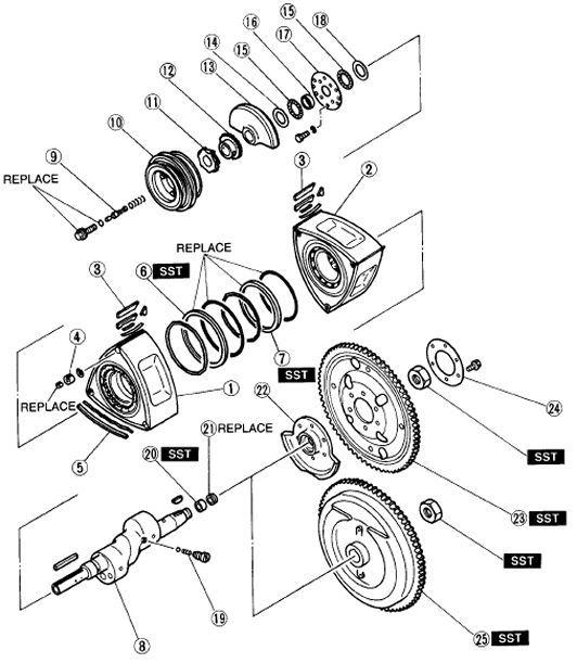 1987 mazda rx7 ledningsdiagram