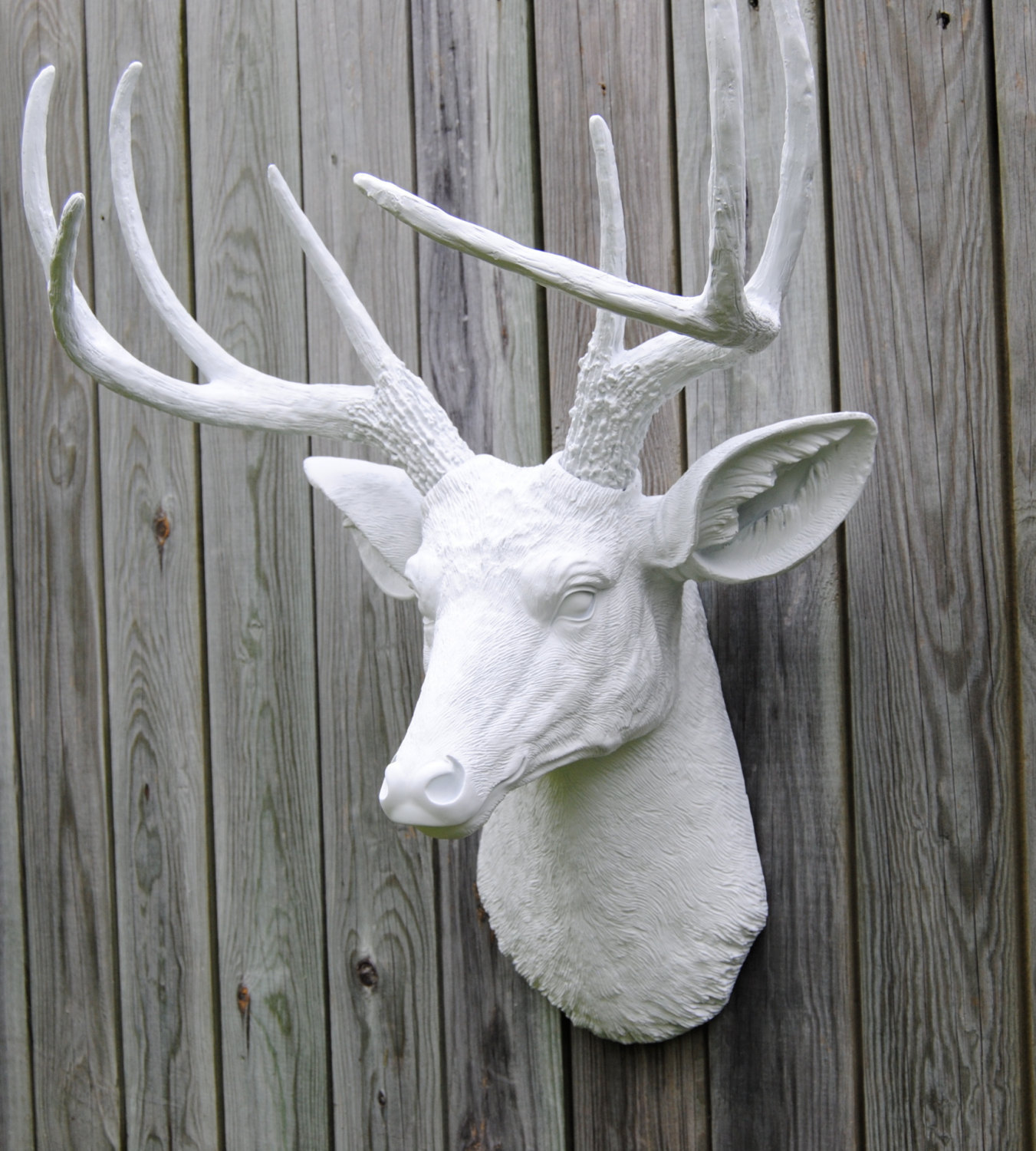 Fake Taxidermy Deer Head White Faux Deer Head Deer Head Antlers Fake Taxidermy