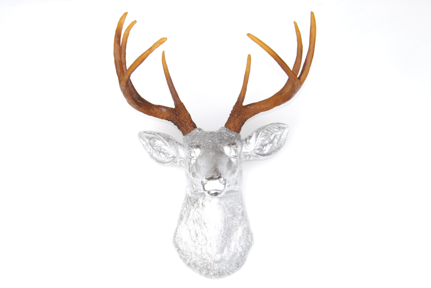 Fake Taxidermy Deer Head Chrome Deer Head Deer Head Antlers Fake Taxidermy Wall