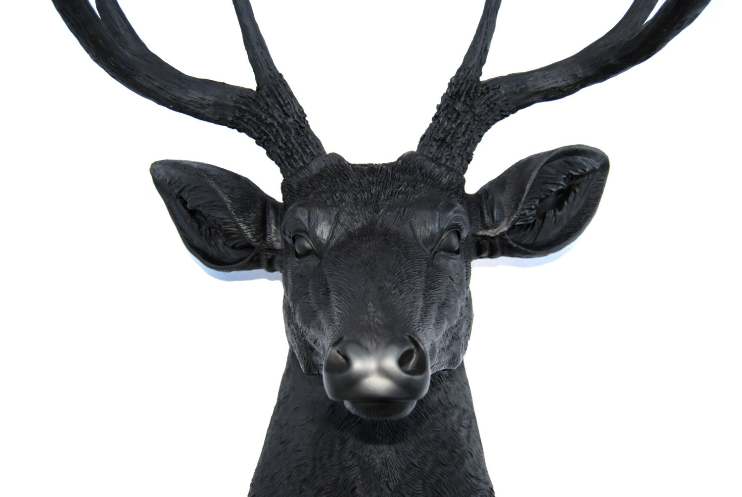 Fake Taxidermy Deer Head Matte Black Faux Deer Head Deer Head Antlers Fake