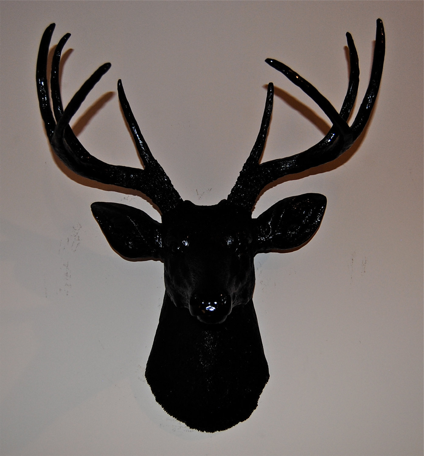 Fake Taxidermy Deer Head Black Faux Deer Head Deer Head Antlers Fake Taxidermy