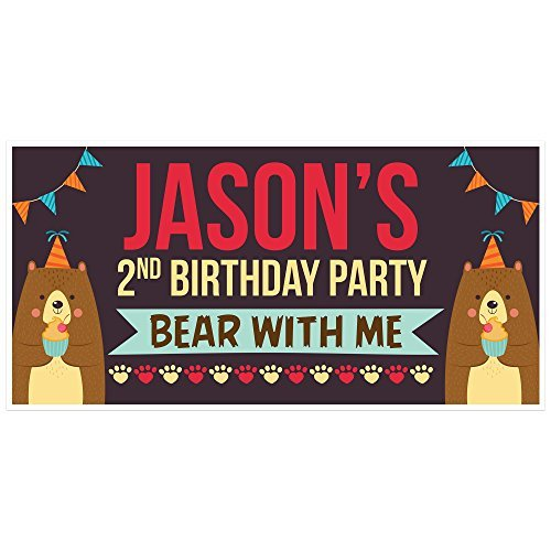 Bear with Cupcake Birthday Banner Party and 14 similar items