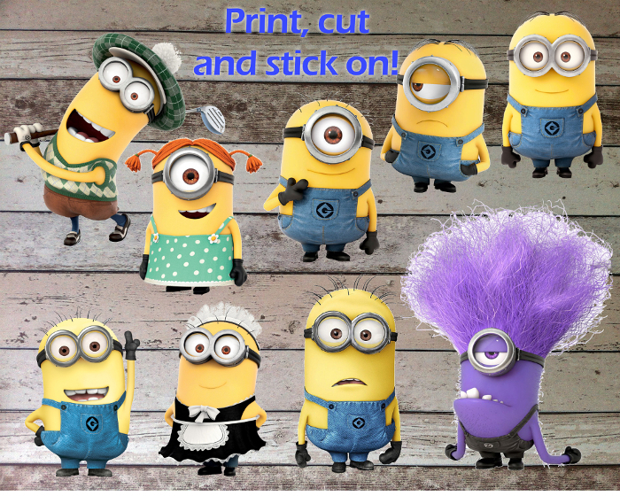 Minions Printable Cutouts for Centerpiece, and 16 similar items